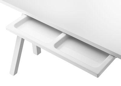 Arredamento - Mobili da ufficio - Cassetto String Works™ - per scrivania di String Furniture - Bianco - Plastica ABS