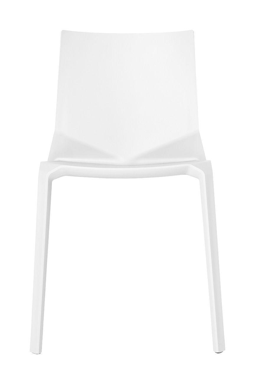 Mobilier - Chaises, fauteuils de salle à manger - Chaise empilable Plana / Plastique - Kristalia - Blanc - Fibre de verre, Polypropylène