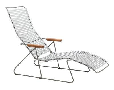 Chaise longue Click / Dossier multipositions - Houe gris,bambou en matière plastique