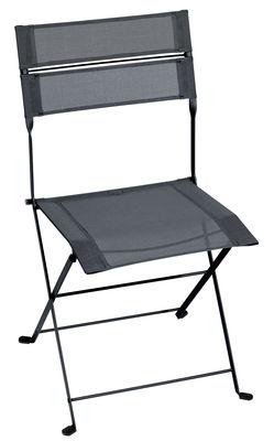 Chaise pliante Latitude / Toile - Fermob carbone en tissu