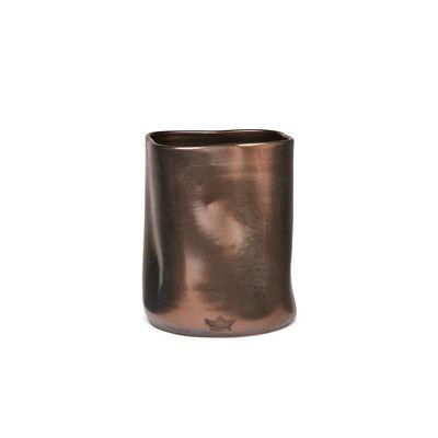 Image of Contenitore per utensili Bosselé - / Vaso - Ø 14,5 x 19 cm - Ceramica di Dutchdeluxes - Rame/Metallo - Ceramica