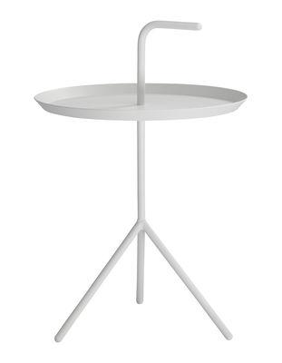 Möbel - Couchtische - Don't leave Me Couchtisch / Ø 38 x H 44 cm - Hay - Weiß - lackierter Stahl