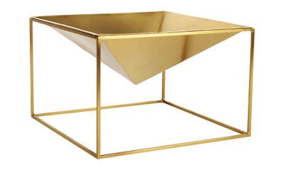 Déco - Corbeilles, centres de table, vide-poches - Coupe Gemma / 28 x 28 cm - Métal - XL Boom - Laiton - Aluminium plaqué laiton