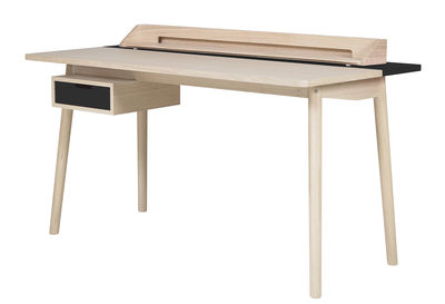 Furniture - Office Furniture - Honoré Desk by Hartô - Grey slate - MDF veneer oak, Solid oak