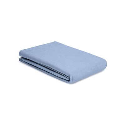 Decoration - Bedding & Bath Towels - Flat sheet 240 x 310 cm - / 240 x 310 cm - Washed linen by Au Printemps Paris - Sky blue - washed linen