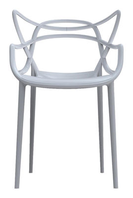 Mobilier - Chaises, fauteuils de salle à manger - Fauteuil empilable Masters / Plastique - Kartell - Gris - Polypropylène