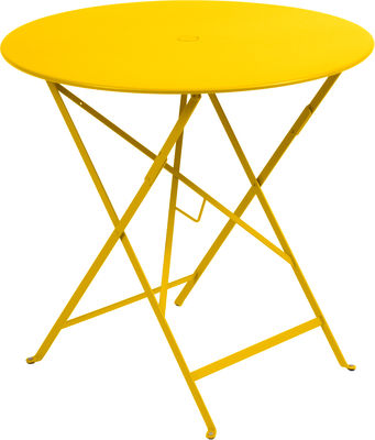 Outdoor - Garden Tables - Bistro Foldable table by Fermob - Honey - Lacquered steel