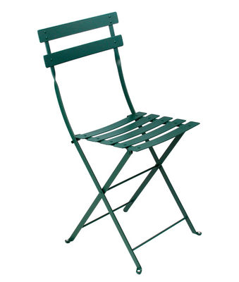 Furniture - Chairs - Bistro Folding chair - Metal by Fermob - Cedar green - Lacquered steel