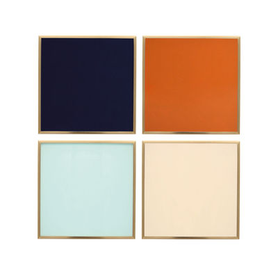 Tableware - Table Mats & Trivets - Glass coaster - / Set of 4 - Glass by & klevering - Multicoloured - Coloured glass, Metal