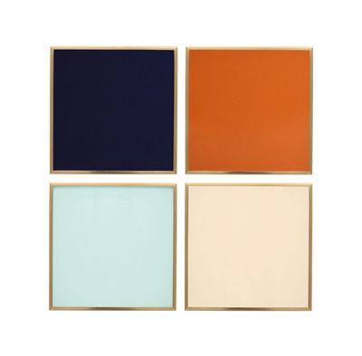 Tischkultur - Topfuntersetzer - Glasuntersetzer / 4er Set - Glas - & klevering - Mehrfarbig - Metall, Verre coloré