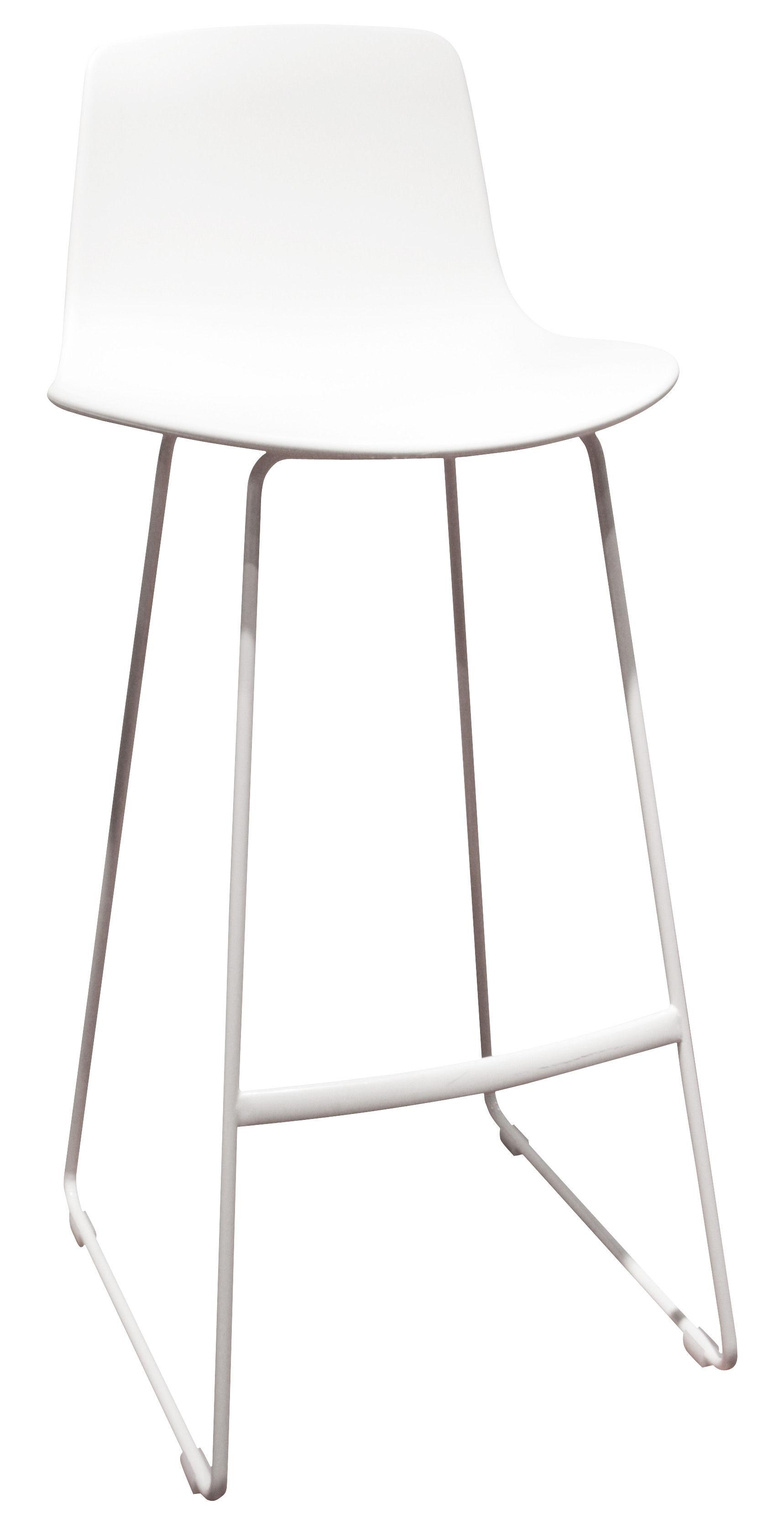 Möbel - Barhocker - Lottus Hochstuhl Kufengestell - Enea - Weiß - Polypropylen, Stahl