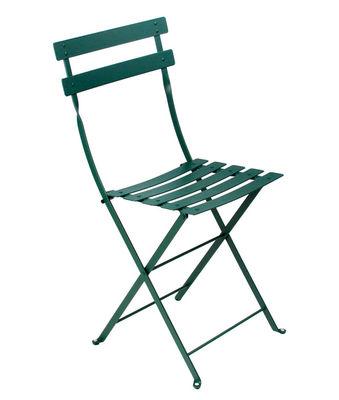 Möbel - Stühle  - Bistro Klappstuhl Metall - Fermob - Zederngrün - lackierter Stahl