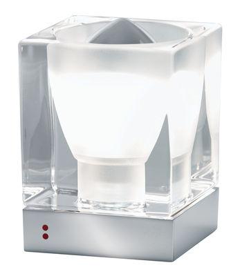 Luminaire - Lampes de table - Lampe de table Cubetto - Crystal Glass - Fabbian - Transparent - Métal chromé, Verre