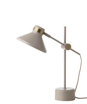 Lampe de table Mr / Métal - H 44 cm - Frandsen taupe mat en métal