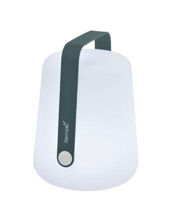 Balad Small LED Lampe ohne Kabel / H 25 cm - mit USB-Ladekabel - Fermob - Gewittergrau