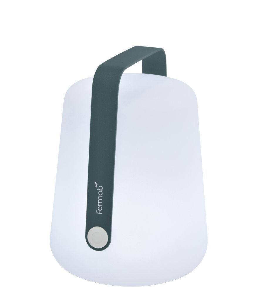 Luminaire - Lampes de table - Lampe sans fil Balad Small LED / H 25 cm - Recharge USB - Fermob - Gris orage - Aluminium, Polyéthylène