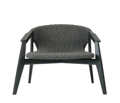 Knit Lounge Sessel / Synthetikfaden - Ethimo - Schwarz,Gris Lave