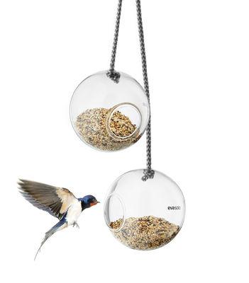 Mangeoire à oiseaux / Lot de 2 - Ø 10 cm - Eva Solo transparent en verre