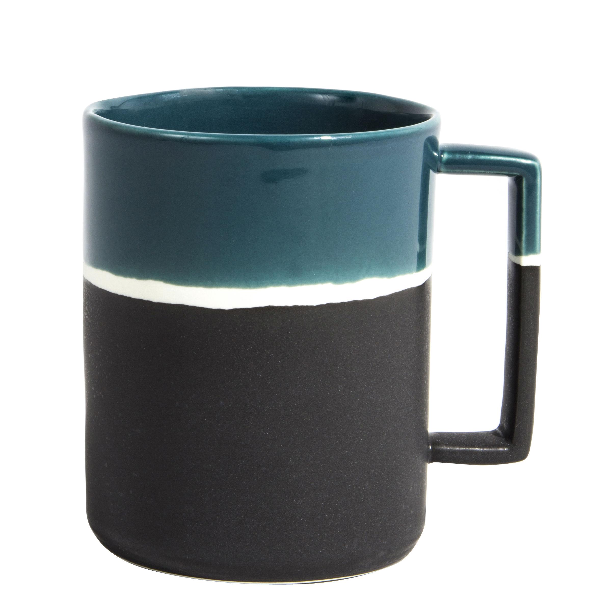 Tableware - Coffee Mugs & Tea Cups - Sicilia Mug by Maison Sarah Lavoine - Sarah blue - Painted enameled stoneware