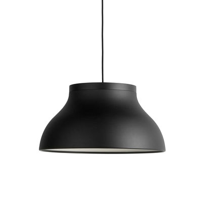 Lighting - Pendant Lighting - PC Medium Pendant - / Ø 40 cm - Aluminium by Hay - Black - Anodized aluminium