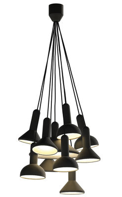 Lighting - Pendant Lighting - Torch Light Pendant - Set of 10 pendants by Established & Sons - Black - Black cable - PVC