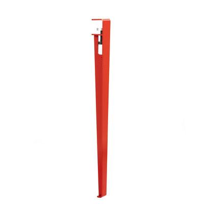 Pied avec fixation étau / H 75 cm - Pour créer table & bureau - TIPTOE rouge en métal