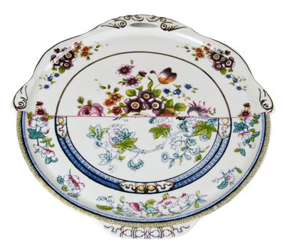 Arts de la table - Plats - Plat Hybrid Dorotea / Ø 35 cm - Seletti - Multicolore - Porcelaine Bone China