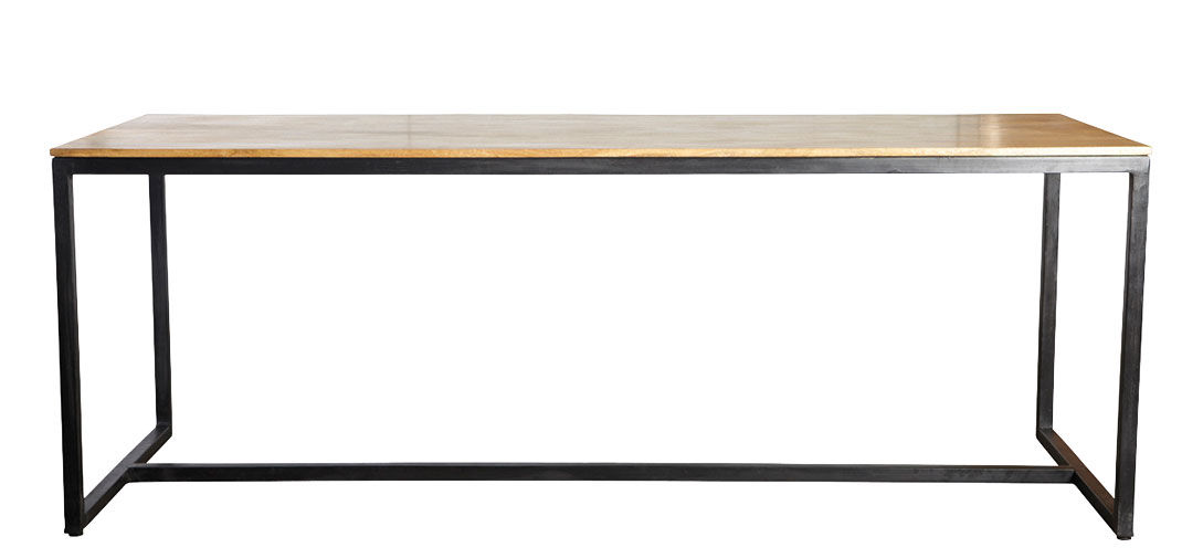 Furniture - Dining Tables - Form Table rectangulaire - / Mango wood - L 200 cm by House Doctor - Wood / Black - Lacquered iron, Mango tree