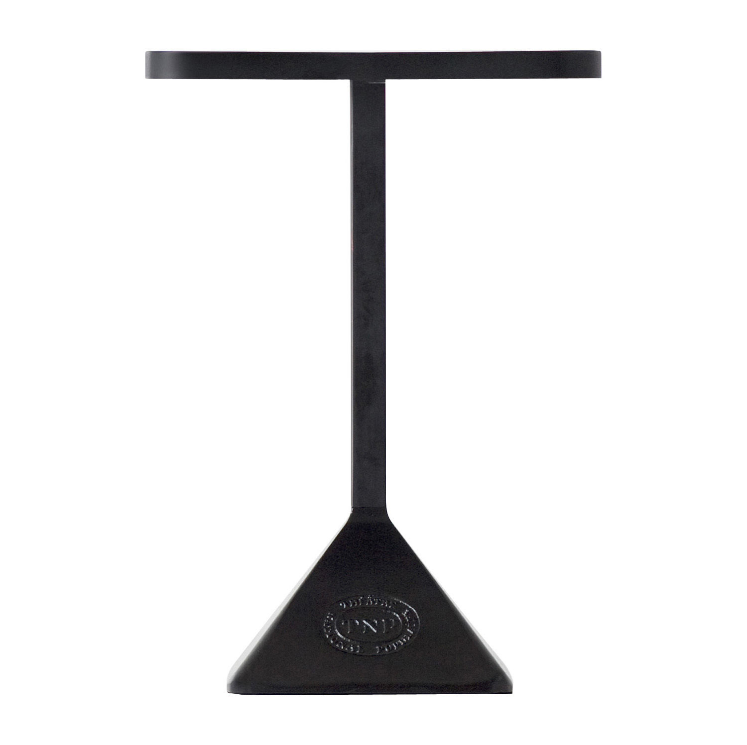 Outdoor - Garden Tables - TNP Rectangular table - Rectangular - 70 x 50 cm by Kristalia - 70 x 50 cm - Black frame / Black top - Cast iron, Lacquered steel, Varnished steel