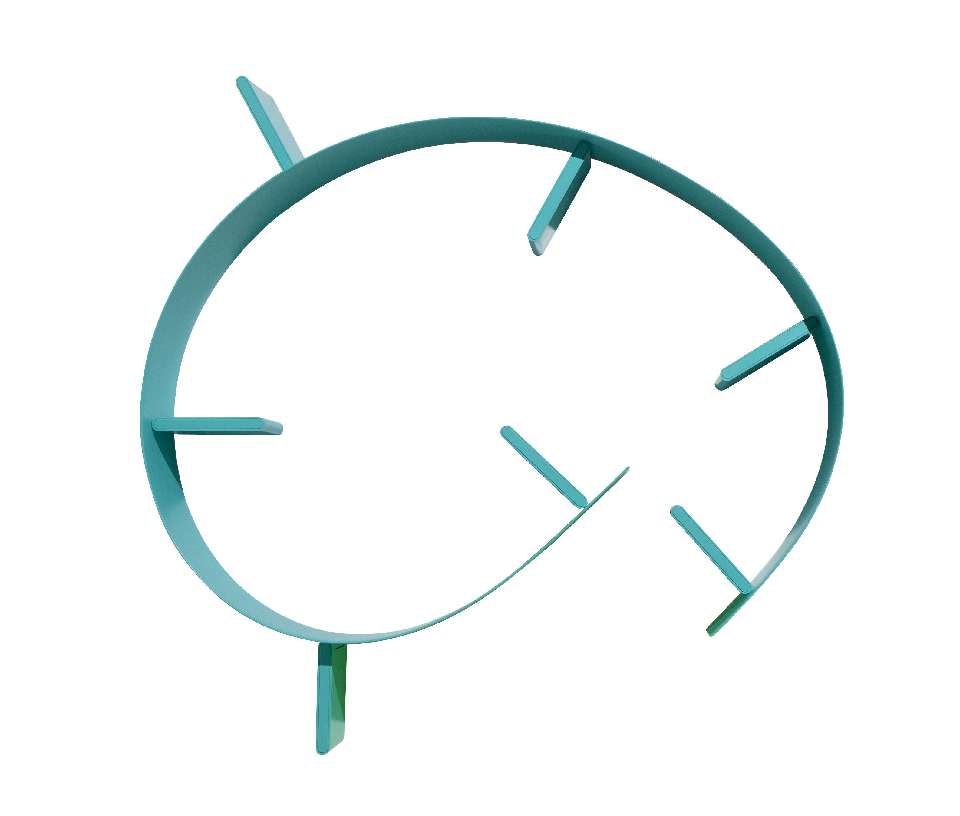 Möbel - Regale und Bücherregale - Popworm Regal / L 320 cm - Kartell - Türkisblau - Gefärbter und feuerbeständiger PVC