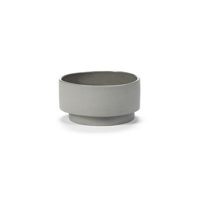 Tischkultur - Salatschüsseln und Schalen - Inner Circle Schale / 65 cl - Steinzeug - valerie objects - Hellgrau - Sandstein