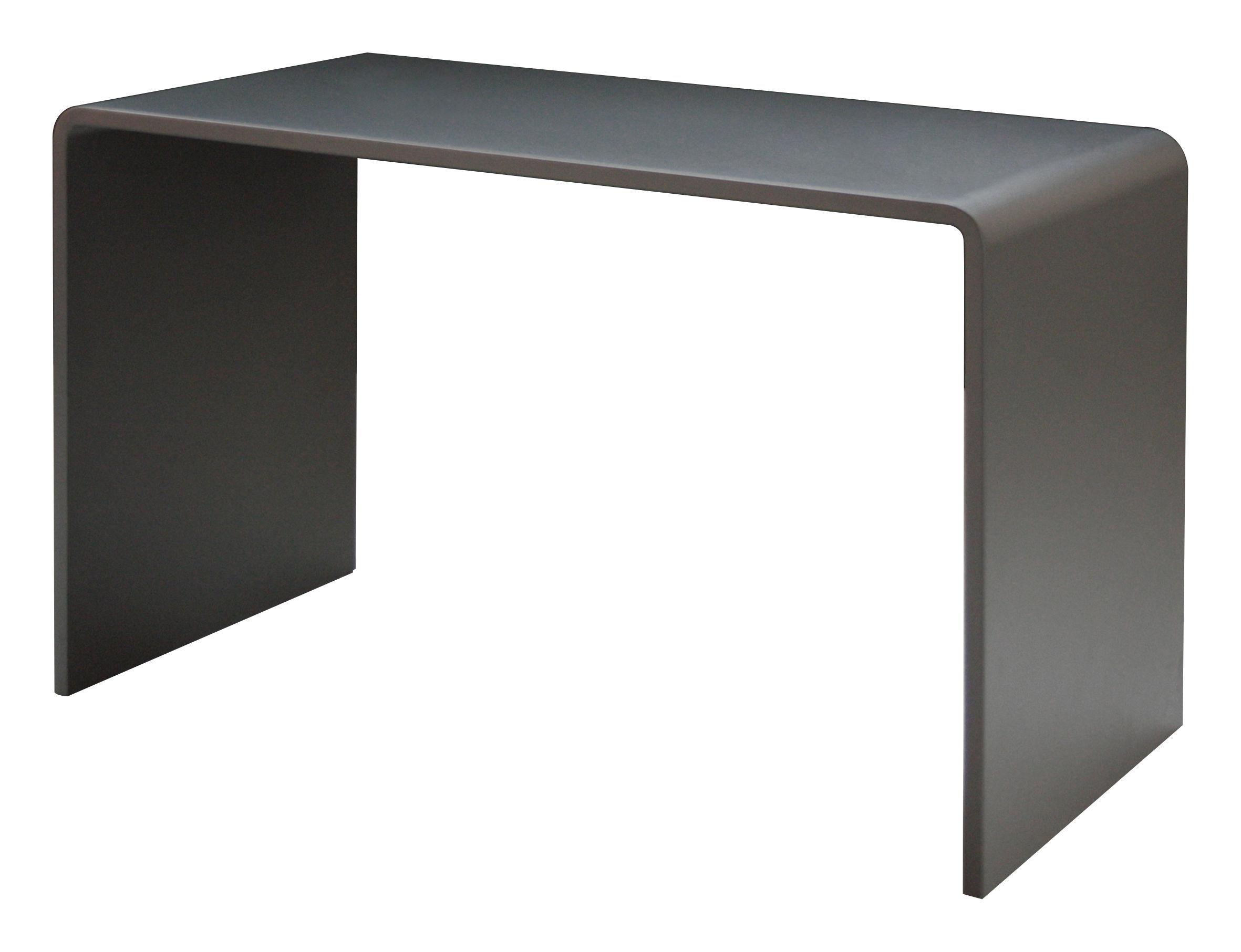Möbel - Büromöbel - Solitaire Schreibtisch L 120 cm - Zeus - Kanonengrau - bemalter Stahl