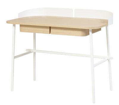 Victor Schreibtisch - Hartô - Weiß,Holz natur