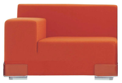 Plastics Sofa modulierbar Armlehne rechts - Kartell - Orange