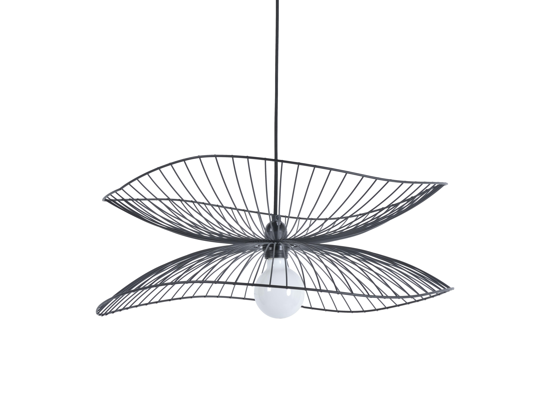 Illuminazione - Lampadari - Sospensione Libellule Small - / Ø 56 x H 20 cm di Forestier - Nero - Fils de fer laqués