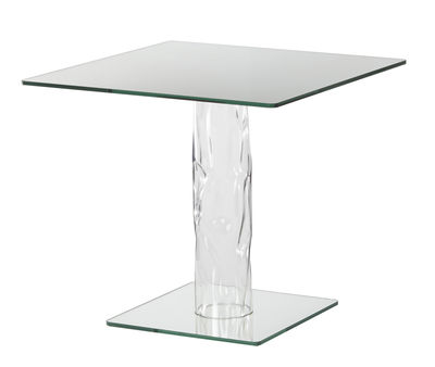 Furniture - Dining Tables - Narcissus Square table - 80 x 80 cm - Mirror top and base by Glas Italia - Mirror / Transparent leg - Borosilicated glass, Mirror