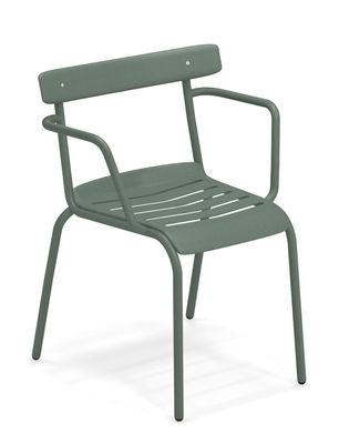 Miky Stapelbarer Sessel / Metall - Emu - Dunkelgrün