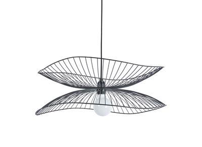 Luminaire - Suspensions - Suspension Libellule Small / Ø 56 x H 20 cm - Forestier - Noir - Fils de fer laqués
