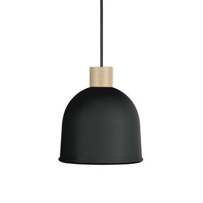 Suspension Ons / Ø 21,4 cm - Métal & bois - EASY LIGHT by Carpyen hêtre naturel,graphite en métal