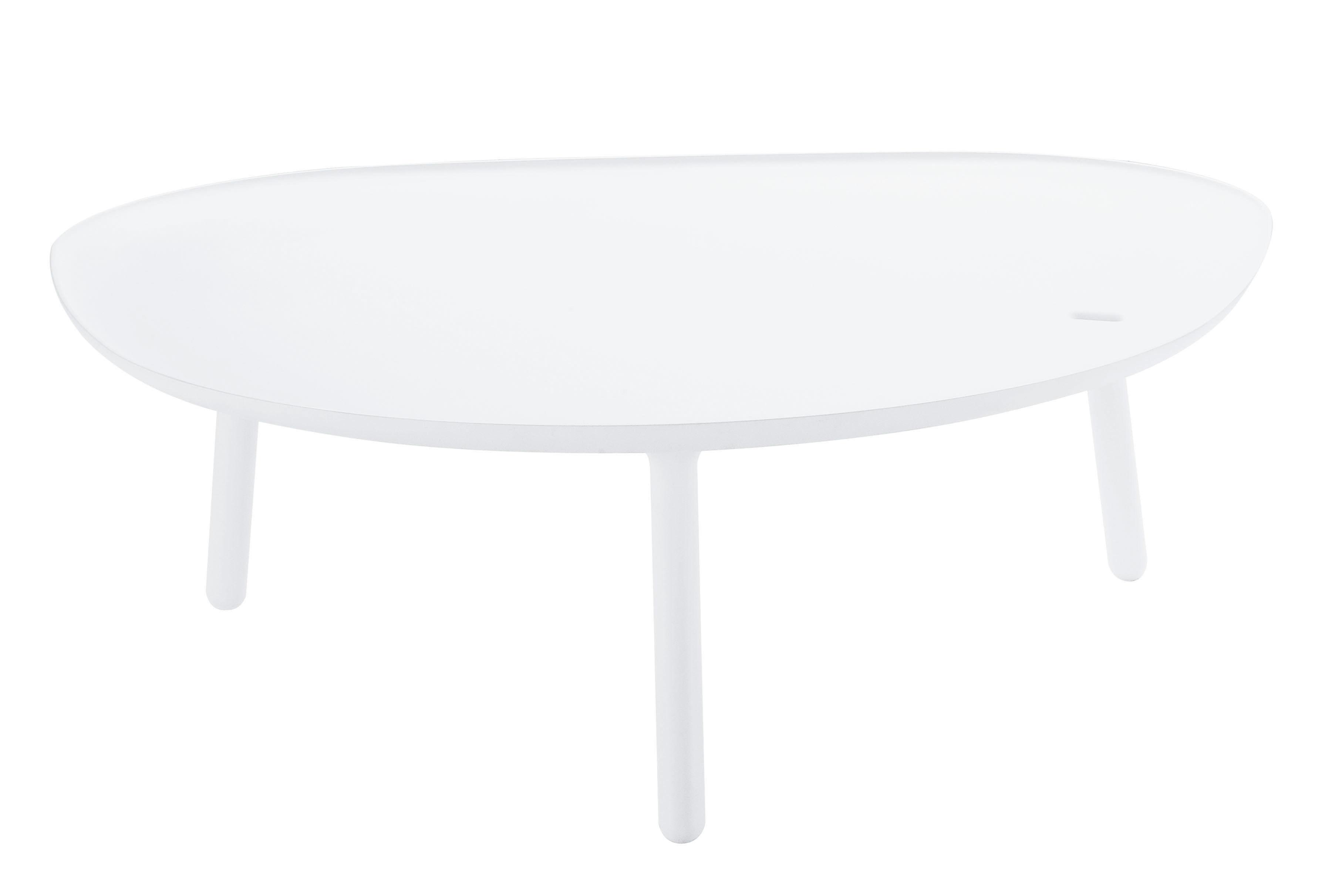 Mobilier - Tables basses - Table basse Ninfea H 35 cm - Zanotta - Blanc mat - Matière plastique