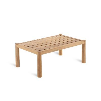 Mobilier - Tables basses - Table basse Pevero / 80 x 50 cm - Teck - Unopiu - 80 x 50 cm / Teck - Teck