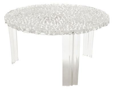 Table basse T-Table Basso / Ø 50 x H 28 cm - Kartell cristal en matière plastique