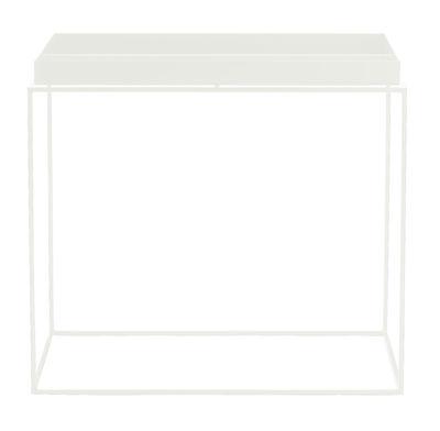 Table basse Tray H 50 cm / 60 x 40 cm - Rectangulaire - Hay blanc en métal