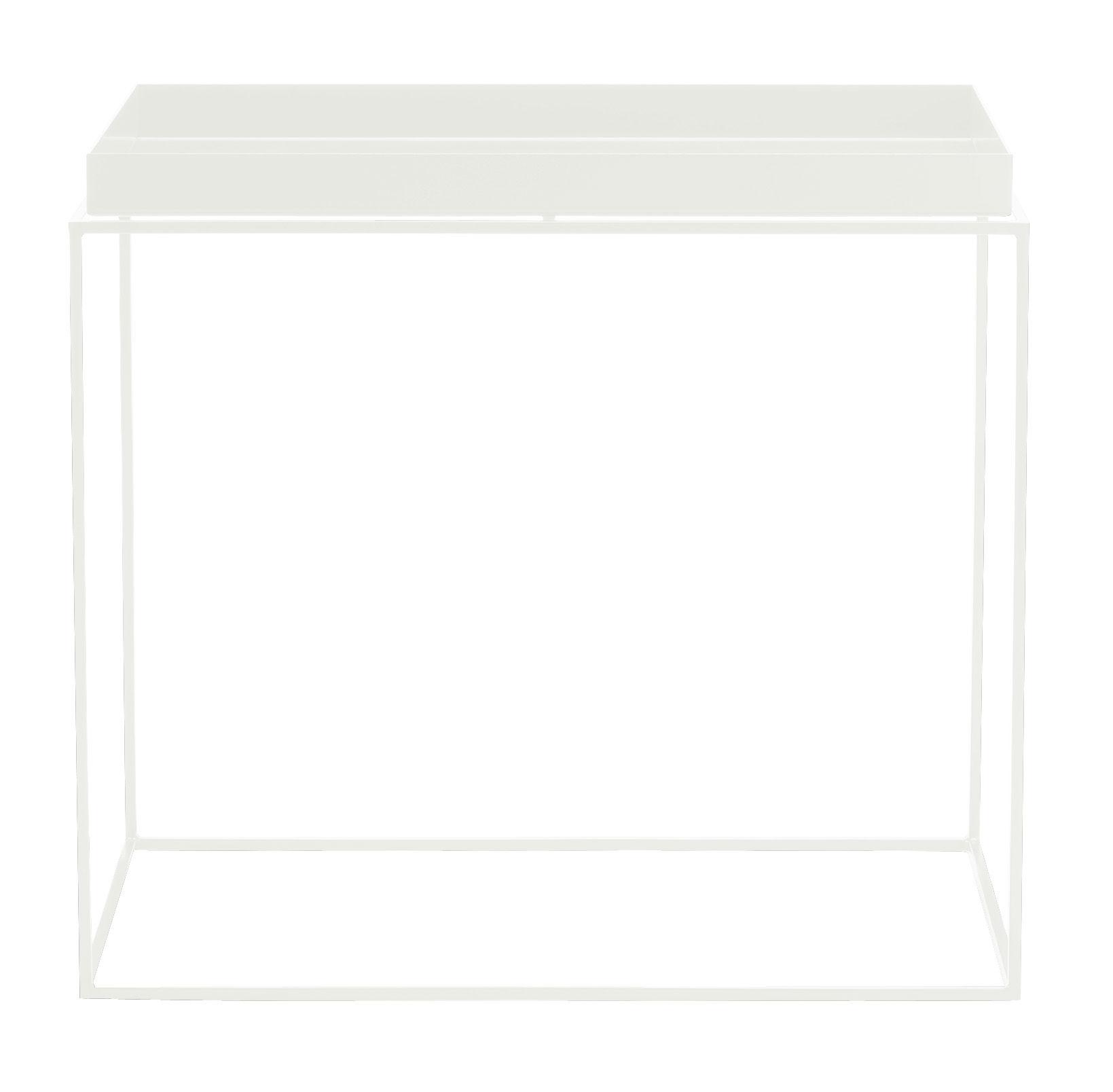 Mobilier - Tables basses - Table basse Tray H 50 cm / 60 x 40 cm - Rectangulaire - Hay - Blanc - Acier laqué
