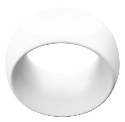Mobilier - Tabourets bas - Tabouret Cero / Plastique - Serralunga - Blanc - Polyéthylène rotomoulé