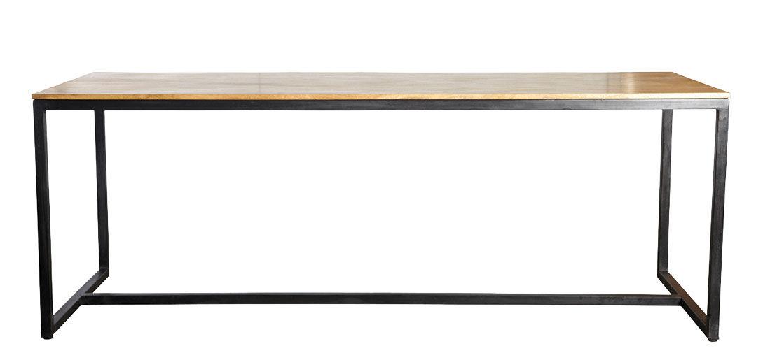 Arredamento - Tavoli - Tavolo rettangolare Form - / Legno di mango - L 200 cm di House Doctor - Legno / Nero - Ferro laccato, Legno di mango