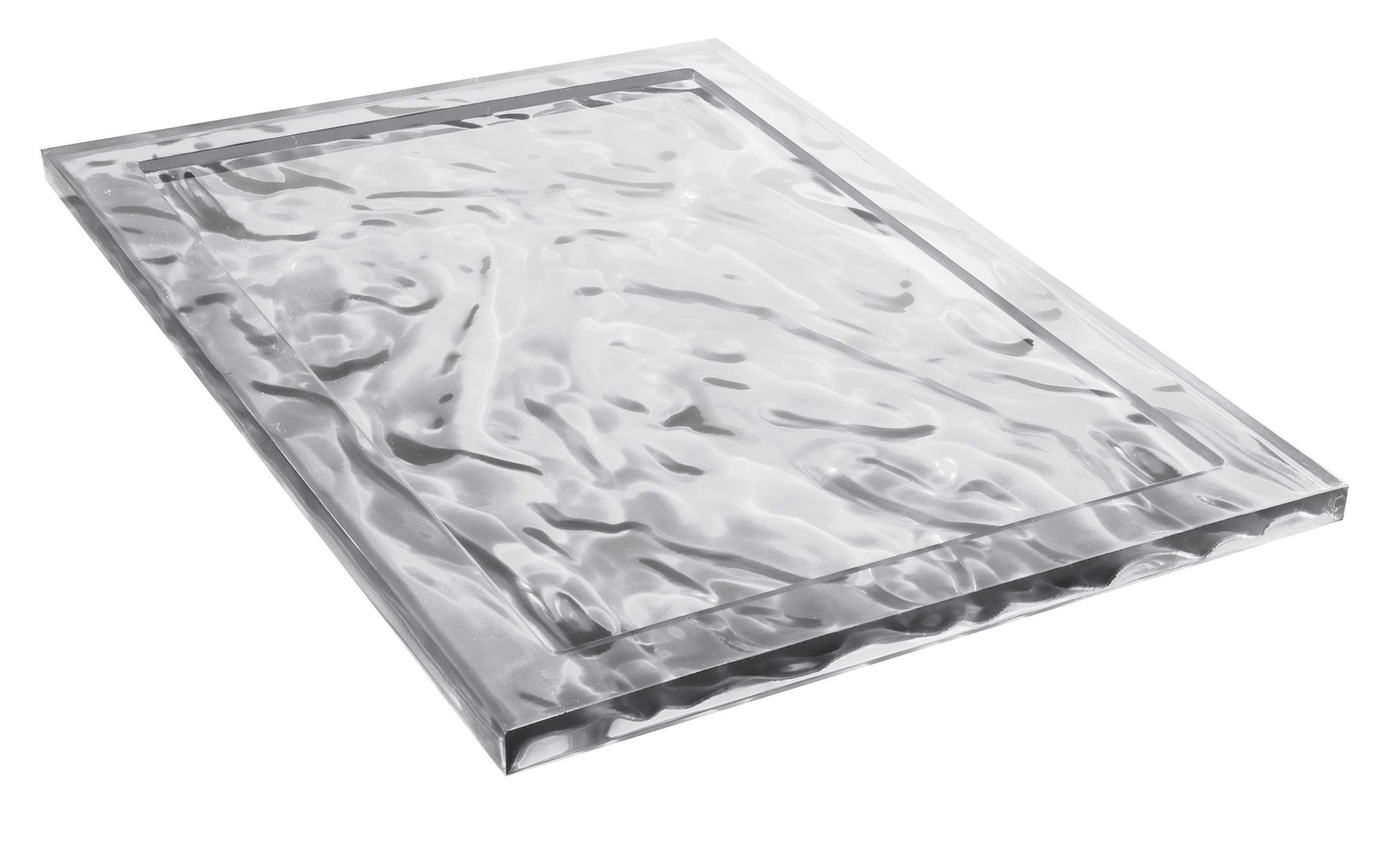 Tableware - Trays - Dune Large Tray - 55 x 38 cm by Kartell - Clear - Technopolymer