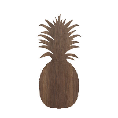 Decoration - Children's Home Accessories - Ananas Wall light - / Oak by Ferm Living - Pineapple / Smoked oak - Smoked oak plywood