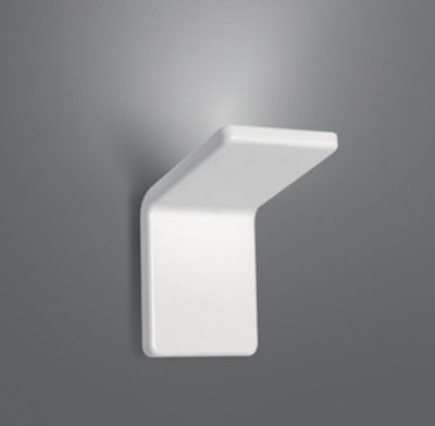Lighting - Wall Lights - Cuma 10 Wall light - LED / L 10 cm by Artemide - L 10 cm - White - Painted aluminium, Thermoplastic material