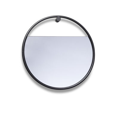 Decoration - Mirrors - Peek Small Wall mirror - / Round - Ø 40 cm by Northern  - Round / Black - Lacquered steel, Tinted glass